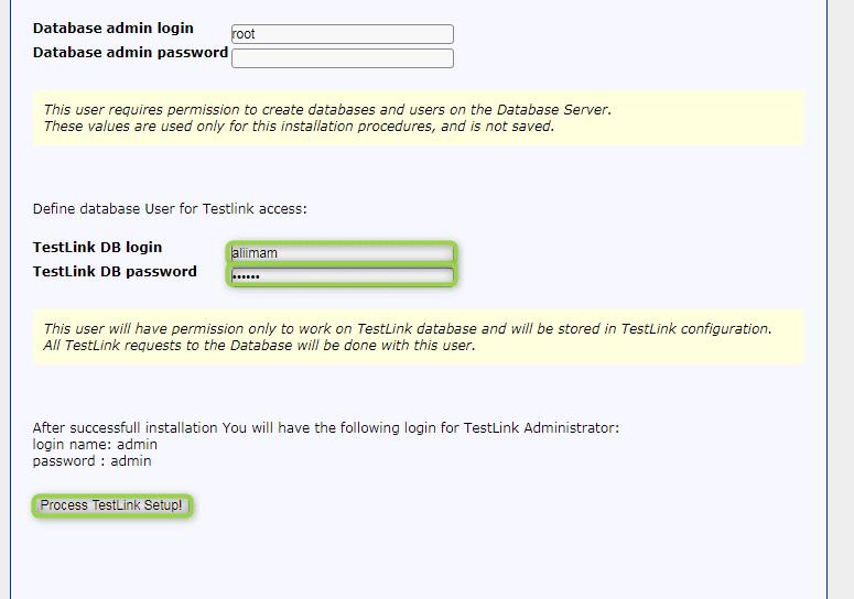 testlink login